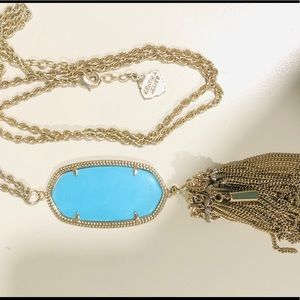 Kendra Scott Turquoise Tassel Necklace